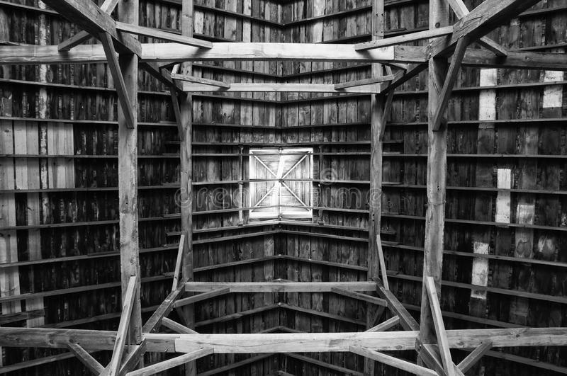Download Wooden Support Beams stock photo. Image of cherry, barn - 11234196