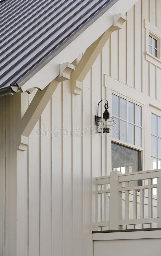 Wooden Supports Attached To Roof Eaves Stock Photo Image