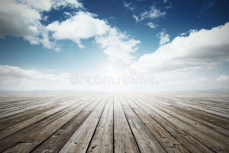 Wooden surface background stock image