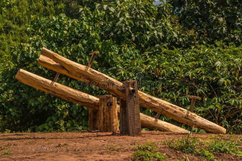 Wooden swing balanc royalty free stock photos