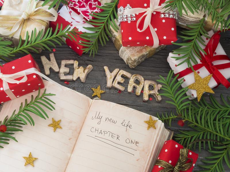 New Year`s Resolution, concept stock photography
