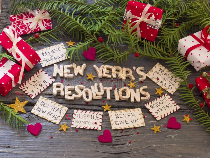 New Year`s Resolution, concept royalty free stock photos