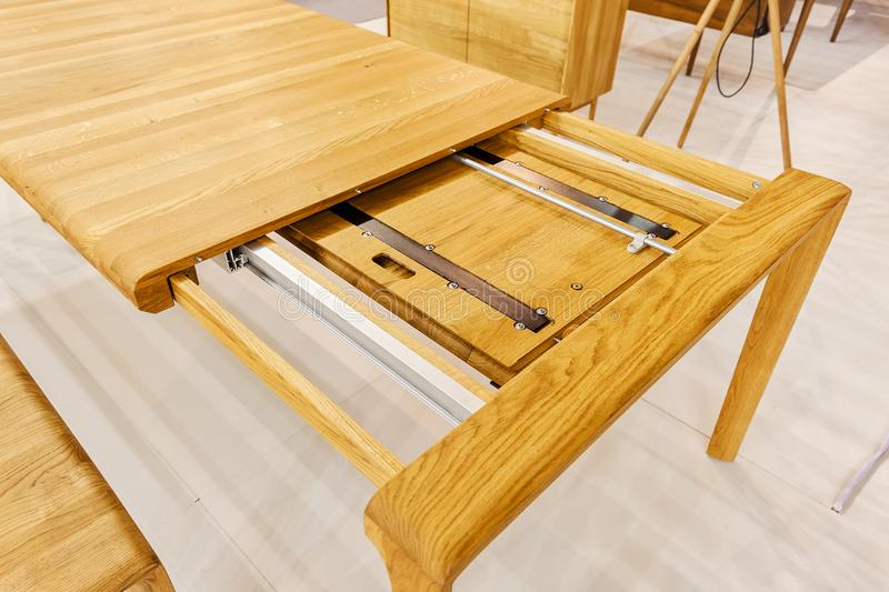 Wooden table stock images