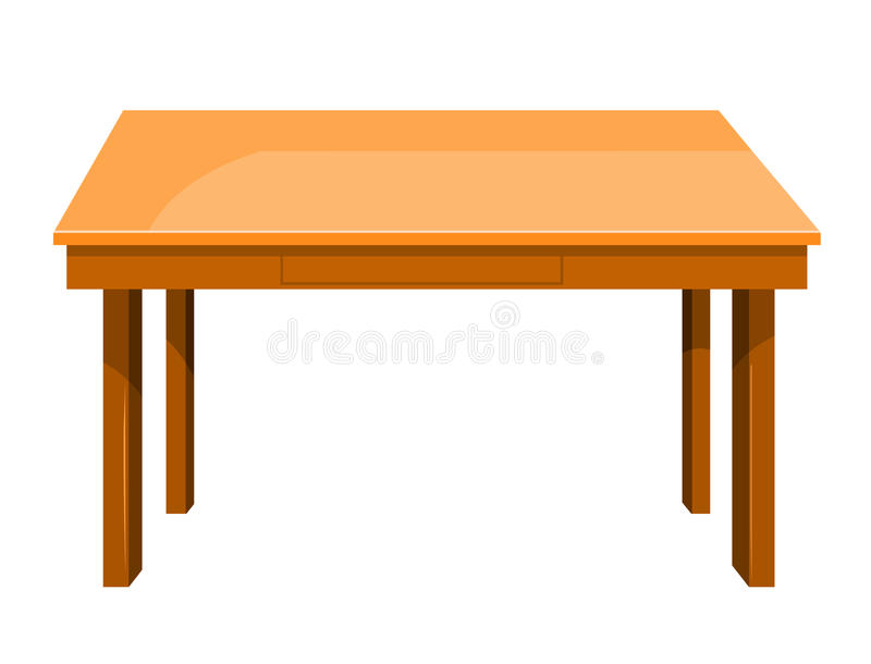 Wooden table isolated illustration stock vector