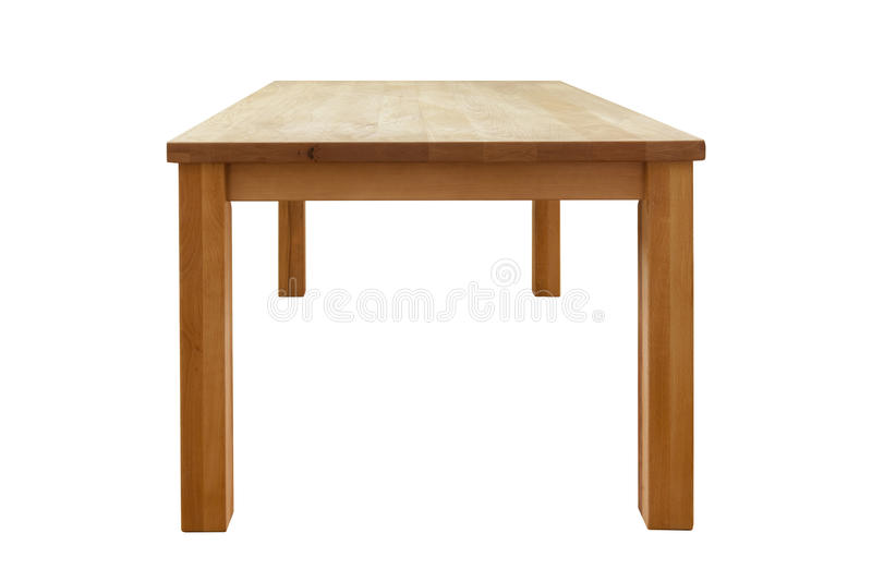 Wooden table isolated. Isolated on white stock images