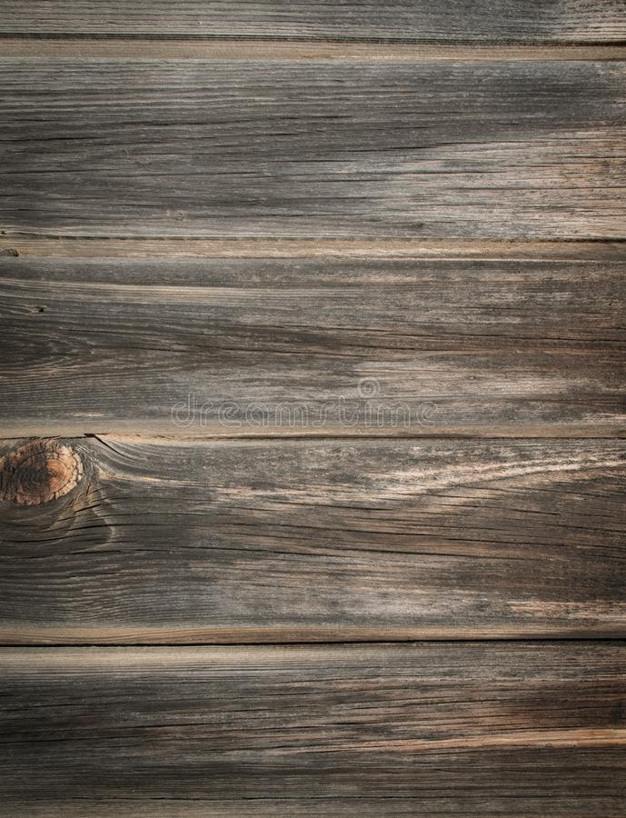 Wooden table made from old shabby planks stock photos