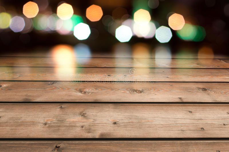 Wooden table restaurant stock photography