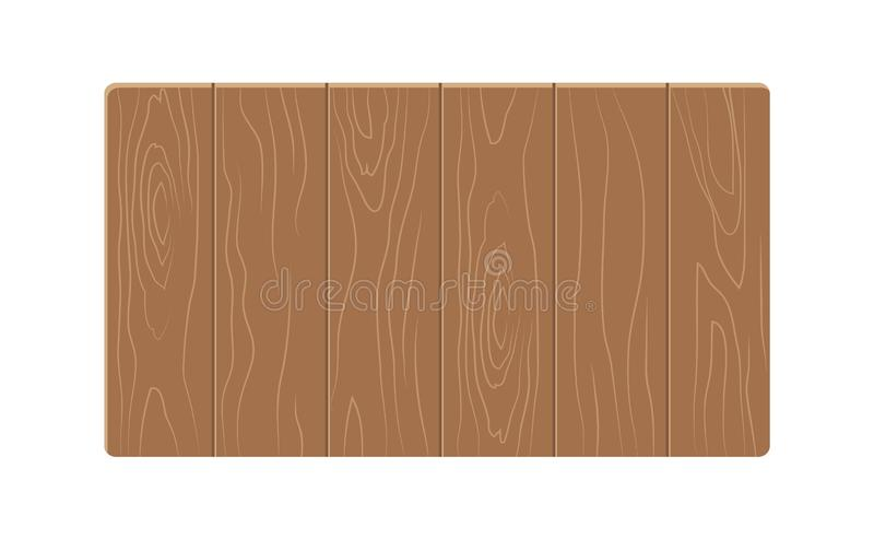 Wooden Table Template Colorful Vector Illustration stock illustration