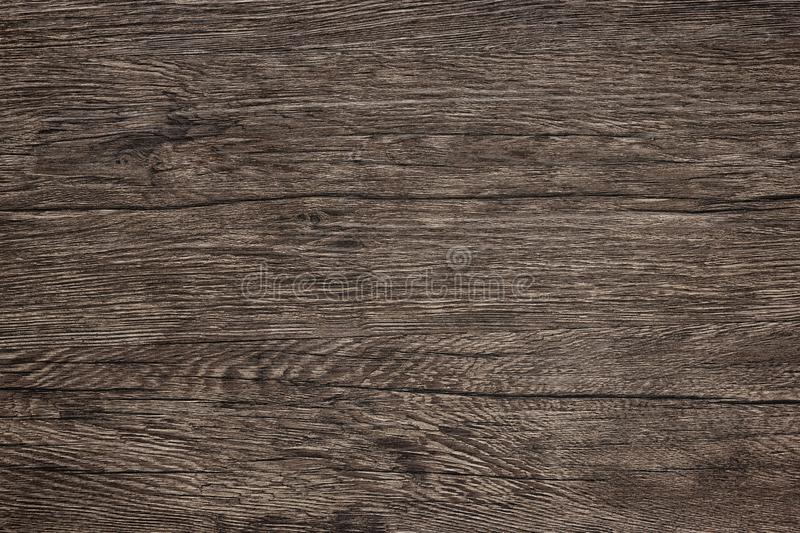 Wooden table texture - dark brown wood background royalty free stock photography