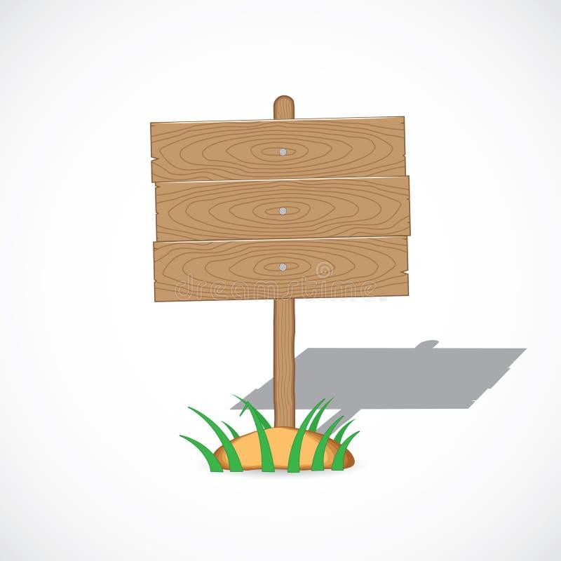 Wooden tablet stock illustration