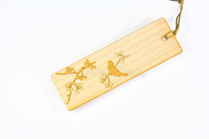 Wooden tag isolated royalty free stock images