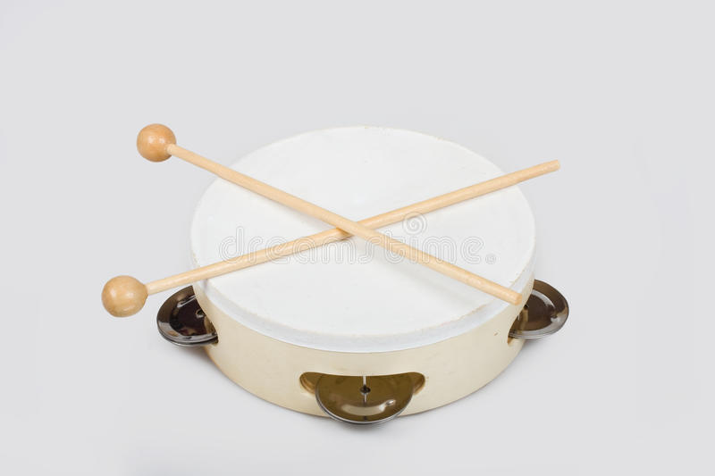 Download Wooden tambourine stock photo. Image of single, timbrel - 23459564