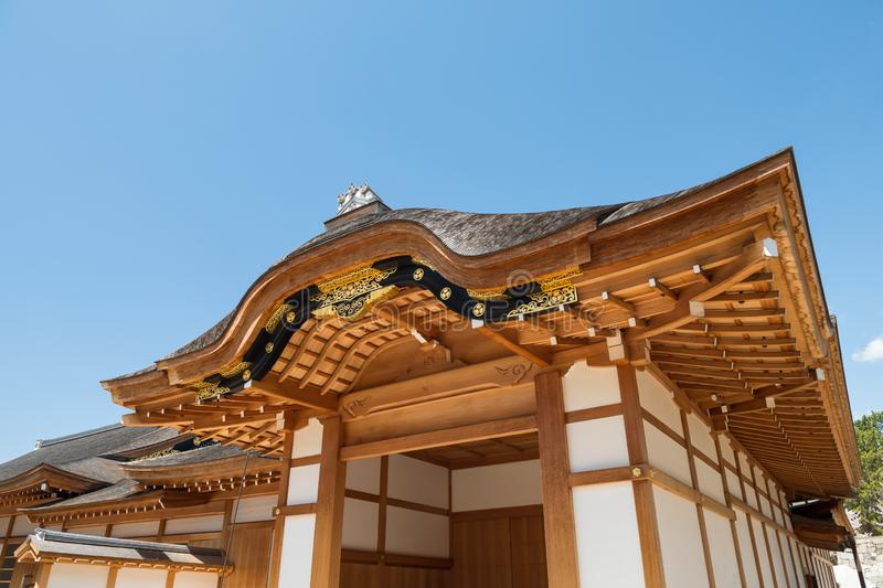 Wooden temple near Nagoya Castle royalty free stock photography