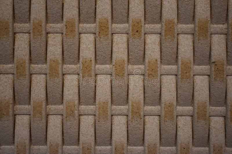 Wooden texture background braided basket stock photography
