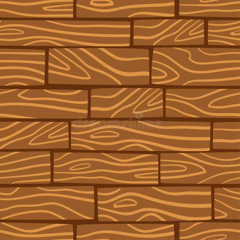 Wooden texture background. Vector seamless pattern. royalty free illustration