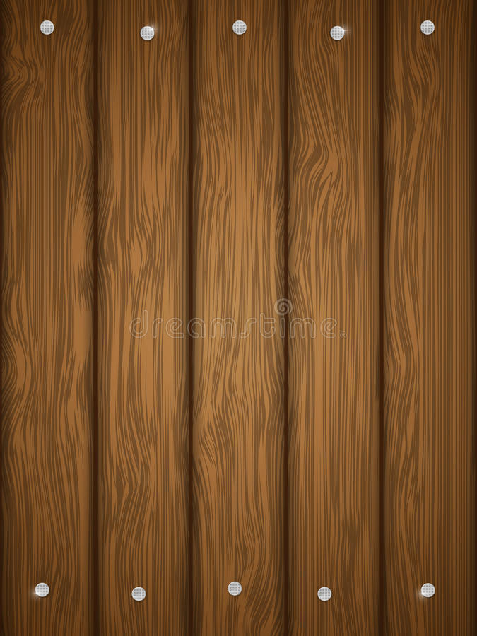 Wooden texture with nails. royalty free illustration