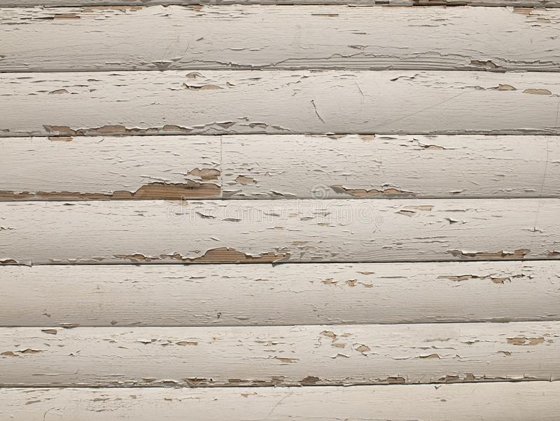 Wooden texture with old white paint. wooden boards as a background stock photography