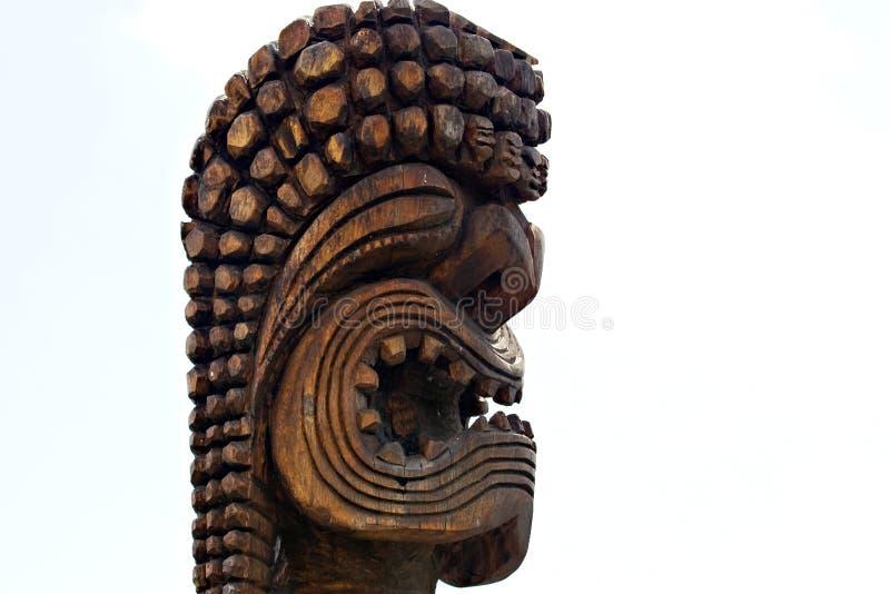 Wooden Tiki stock photo