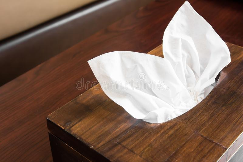 Wooden Tissue Box stock images