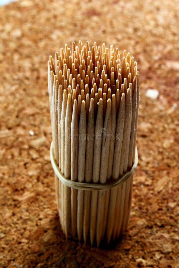 Wooden toothpick stock photos