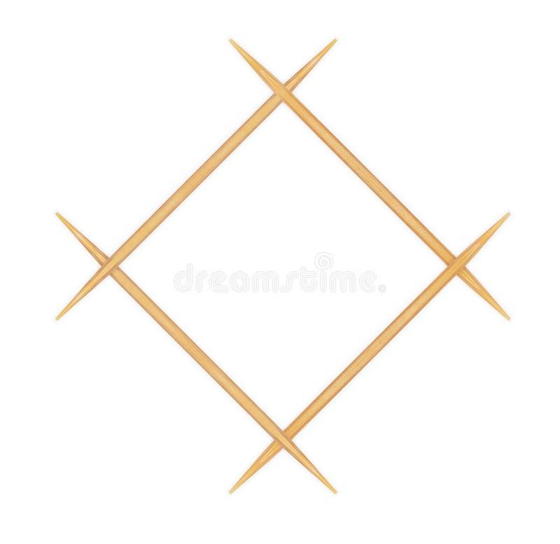 Wooden toothpicks royalty free stock photos