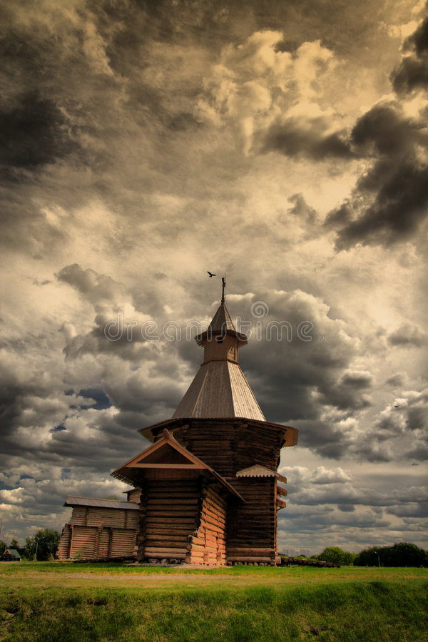 Wooden tower royalty free stock images