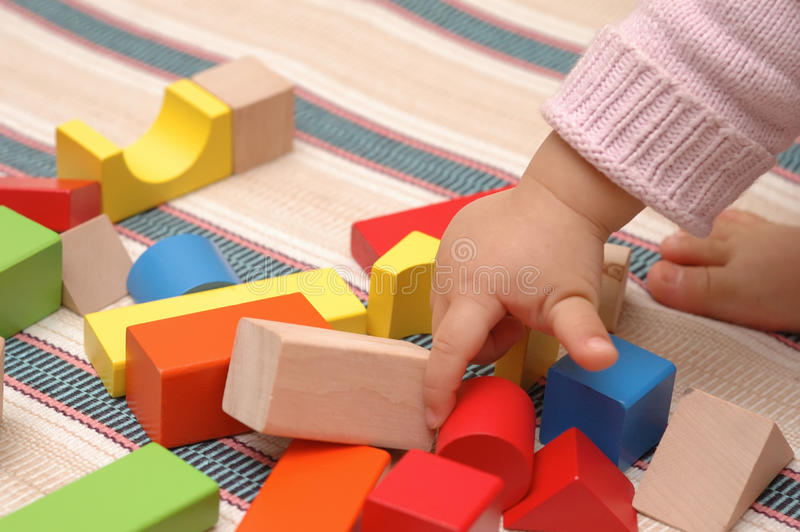 Download Wooden toy blocks stock photo. Image of game, wood, concept - 13594898