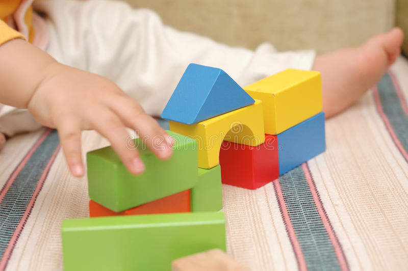 Download Wooden toy blocks stock image. Image of learn, hand, concept - 13870597