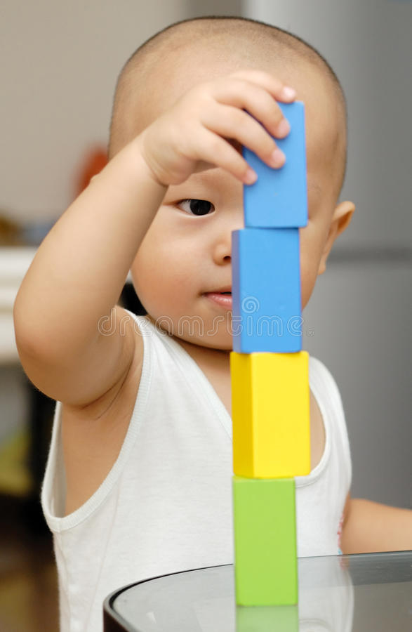 Download Wooden toy blocks stock photo. Image of wooden, hand - 15218708