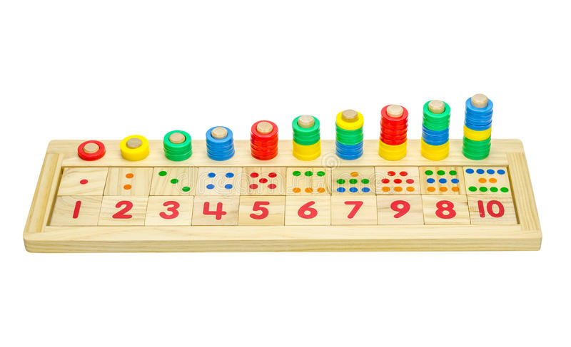 Download Wooden toy blocks isolated stock photo. Image of background - 39510436