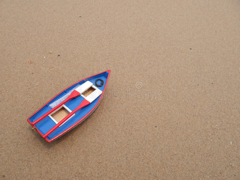 Wooden Toy Boat On The Beach Stock Photo - Image of summer, nautical ...