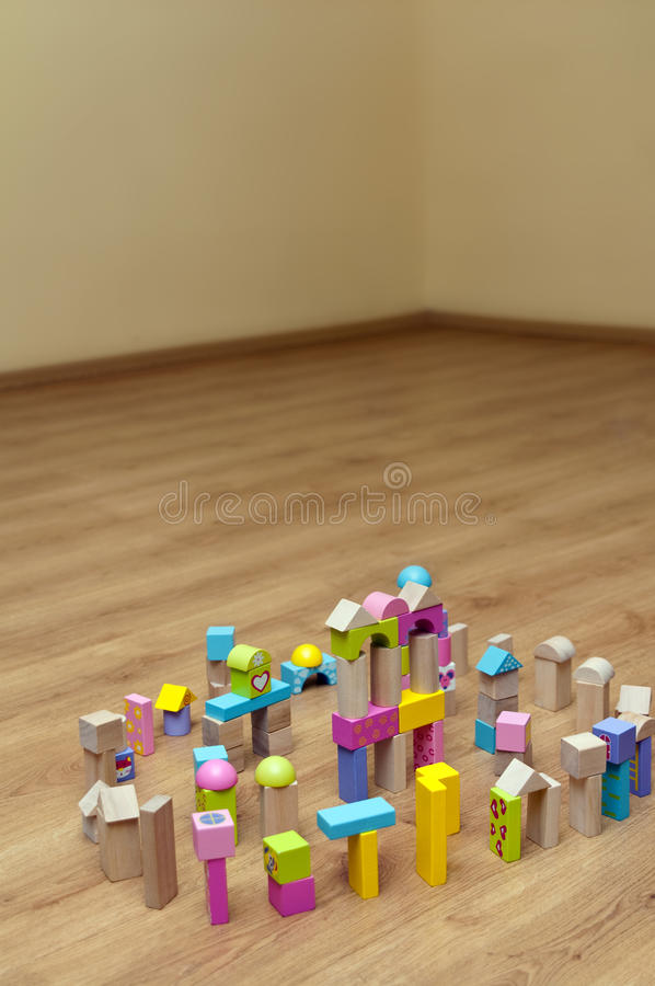Download Wooden Toy Building Blocks stock image. Image of yellow - 22992641