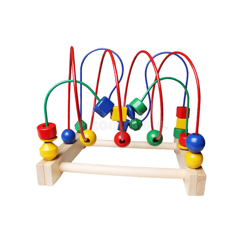 Wooden toy isolated royalty free stock images