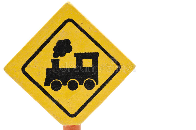 Download Wooden Toy Traffic Sign: Railway Crossing Stock Photo - Image: 18295526