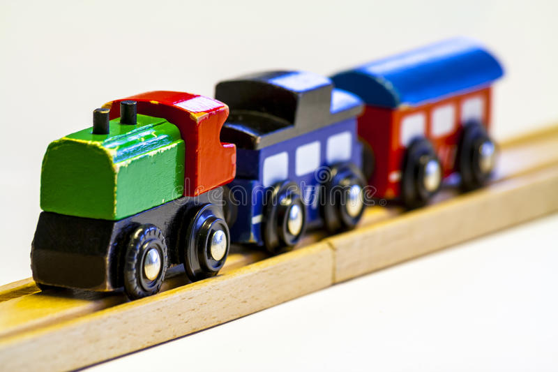 Wooden toy train stock images