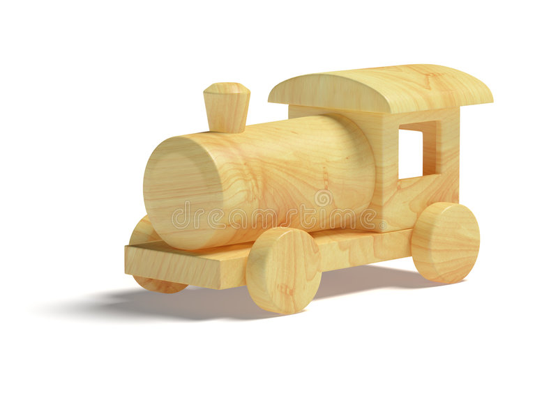 Wooden Toy Train royalty free illustration