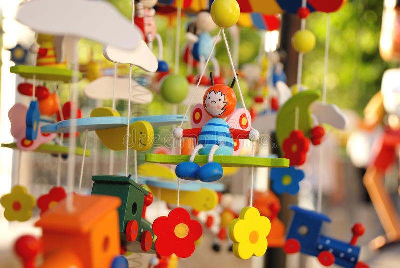 Wooden toys royalty free stock images
