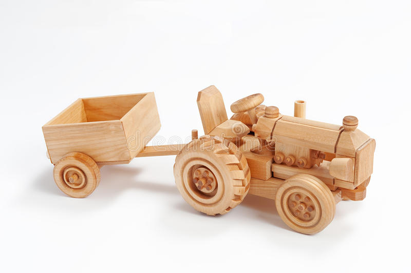 Wooden tractor royalty free stock photos
