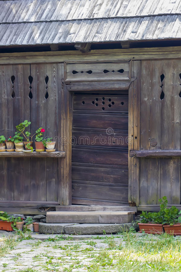 Wooden traditional romanian house royalty free stock images