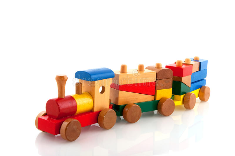 Download Wooden train stock photo. Image of educational, blocks - 10038992
