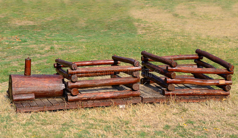 Download Wooden Train, Children Playground In The Park Stock Image - Image: 34864099
