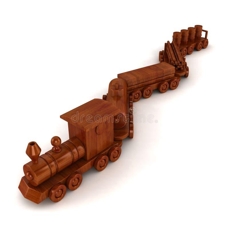 Wooden Train Set stock illustration