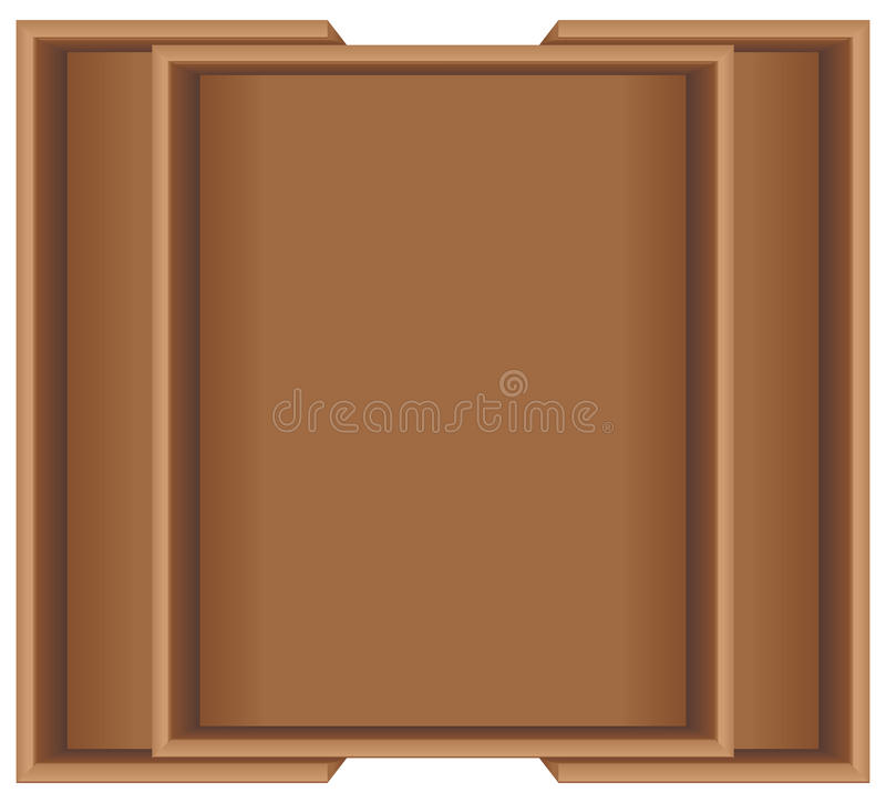 Wooden transform size for kitchen cabinet vector illustration