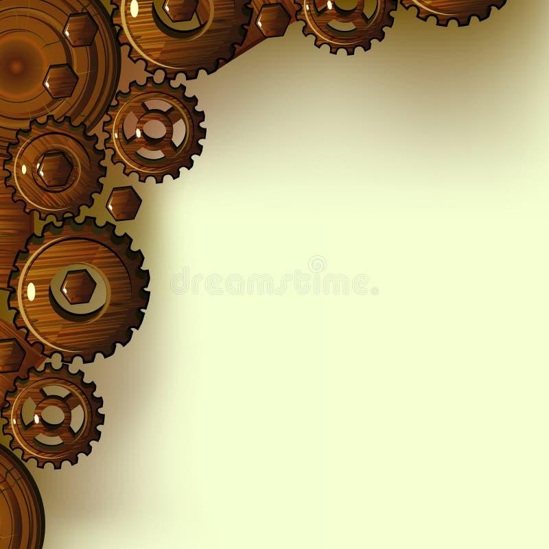 Download Wooden transmission stock vector. Image of illustration - 22715872