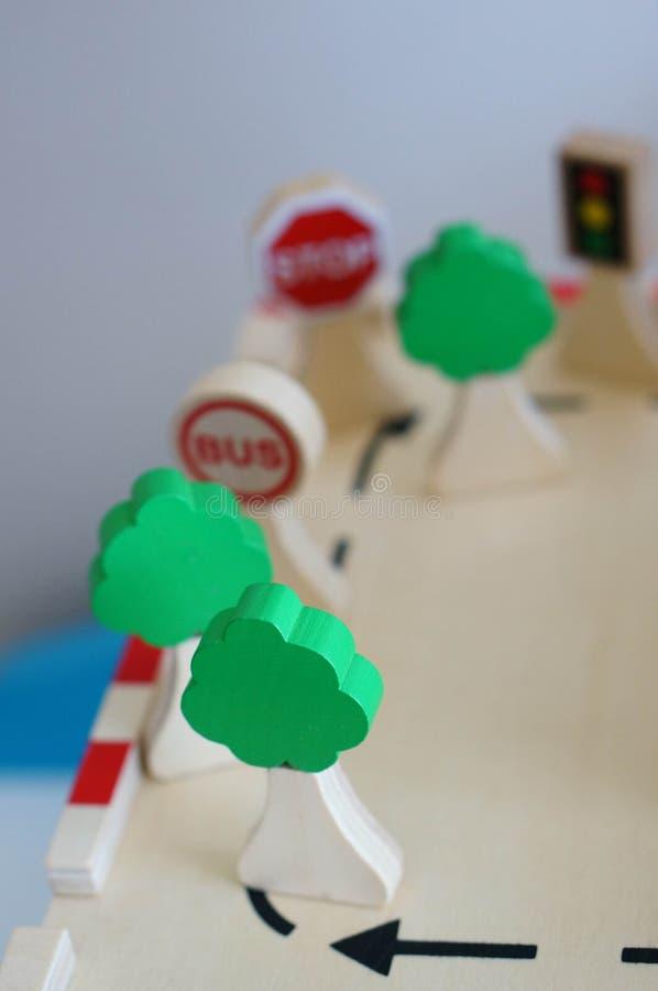 Wooden trees stock photo