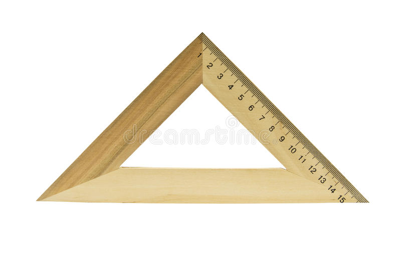 Download Wooden triangle stock photo. Image of meter, school, shape - 16896302