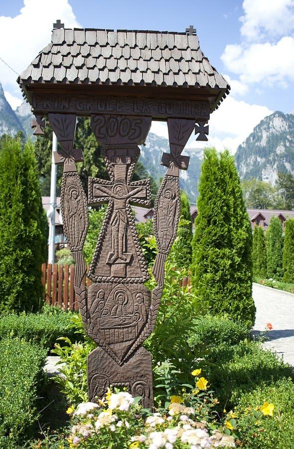 Wooden trinity stock image