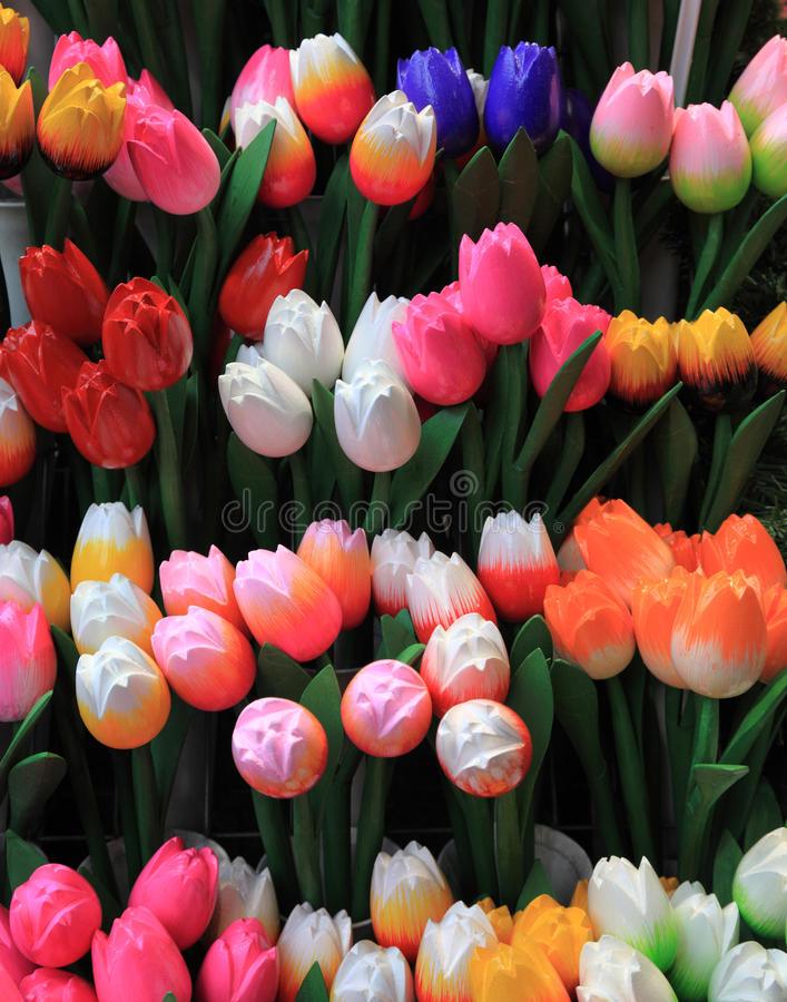 Download Wooden tulips stock photo. Image of wooden, seasonal - 24241570