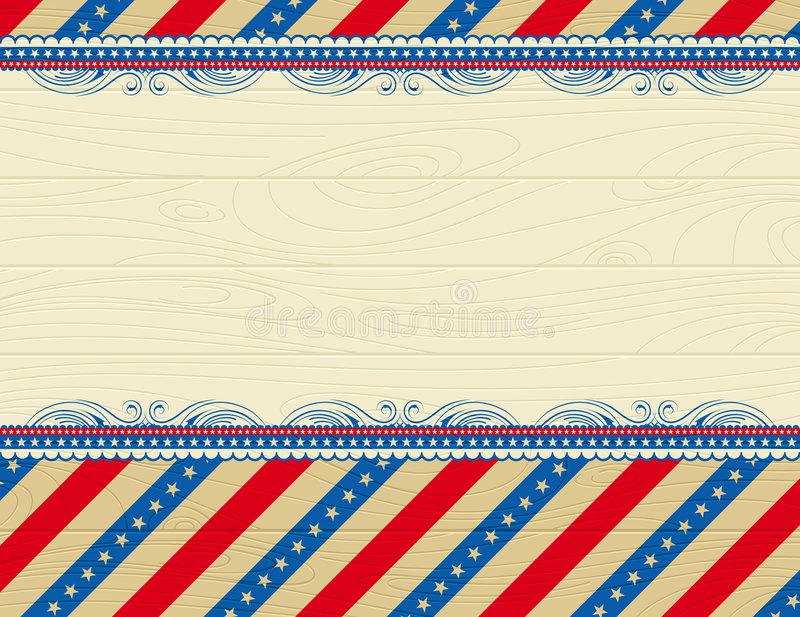 Wooden usa background. With stars and decorative frames vector illustration