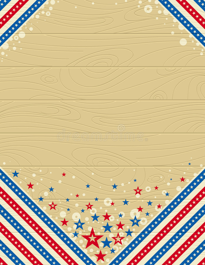 Wooden usa background with stars vector illustration